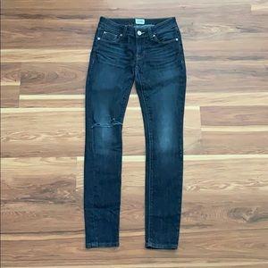 Hudson Ripped Super Skinny Jeans